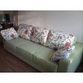 Перетяжка дивана еврокнижки с подлокотниками