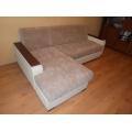 Перетяжка сидений и спинок на угловом диване