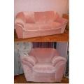 Комплект диван и два кресла набивные чехлы