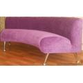Офисный полукруглый диван перетяжка микровельветом